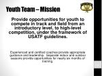 youth team mission