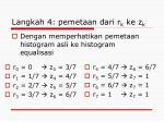 langkah 4 pemetaan dari r k ke z k