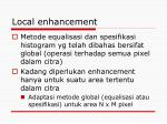 local enhancement
