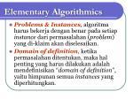 elementary algorithmics