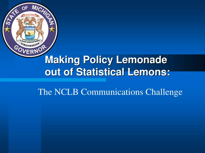 making policy lemonade out of statistical lemons n.