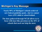 michigan s key message