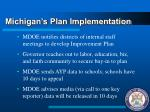michigan s plan implementation