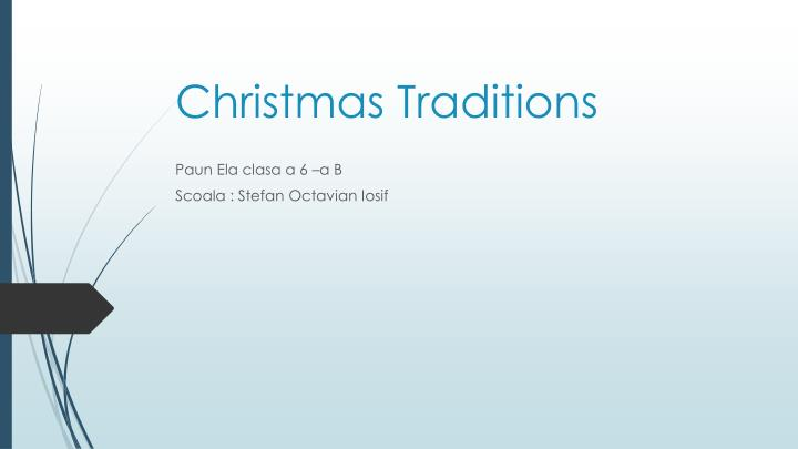 christmas traditions n.