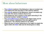 more about behaviours
