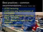 best practices common recommendations zemelman daniels hyde