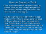 how to reseal a tank2