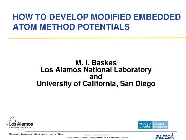 how to develop modified embedded atom method potentials n.