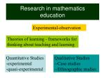 research in mathematics education