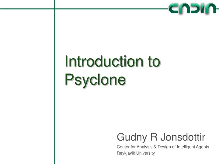 introduction to psyclone n.