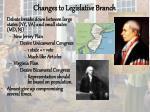 changes to legislative branch