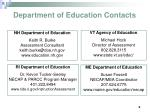department of education contacts