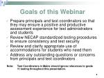 goals of this webinar