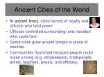 ancient cities of the world