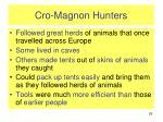 cro magnon hunters