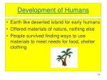 development of humans