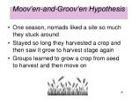 moov en and groov en hypothesis