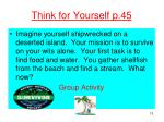 think for yourself p 45
