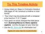 try this timeline activity