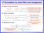 lp formulation for dual vdd level assignment