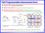 vdd programmable interconnect arch1