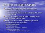 hypothetical plant changes