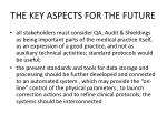 the key aspects for the future