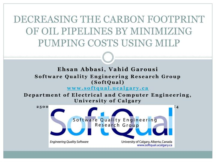 decreasing the carbon footprint of oil pipelines by minimizing pumping costs using milp n.