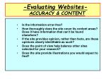 evaluating websites accuracy content