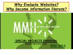 why evaluate websites why become information literate