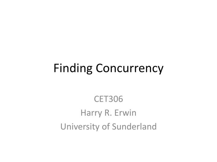 finding concurrency n.