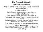 the domestic church the catholic home38
