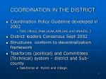 coordination in the district