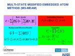 multi state modified embedded atom method ms meam