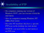 availability of ftp