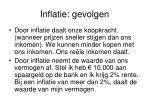 inflatie gevolgen