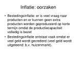 inflatie oorzaken
