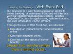 meeting the challenge web front end