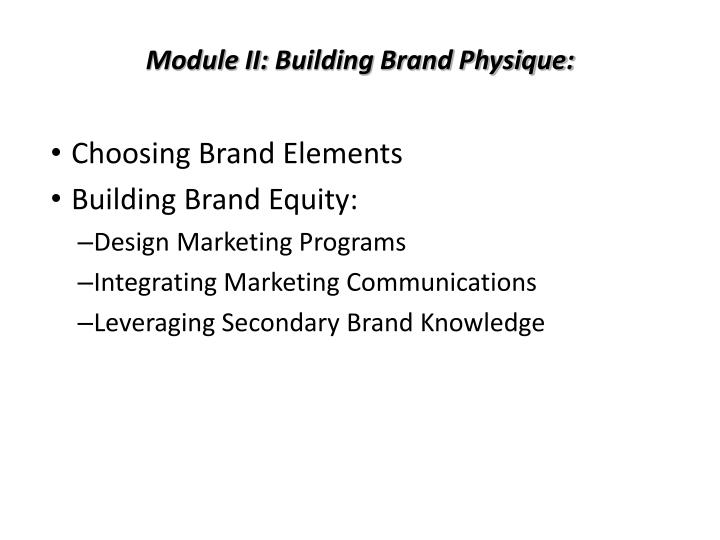 module ii building brand physique n.