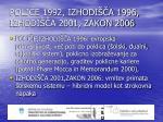polj e 1992 izhodi a 1996 izhodi a 2001 zakon 2006