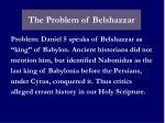 the problem of belshazzar
