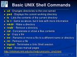 basic unix shell commands