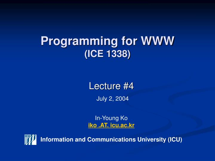 programming for www ice 1338 n.