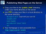 publishing web pages on the server