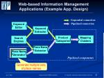 web based information management applications example app design
