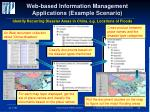 web based information management applications example scenario