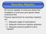 secondary migration