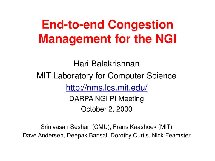end to end congestion management for the ngi n.