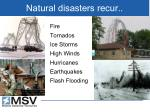 natural disasters recur