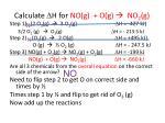 calculate d h for no g o g no 2 g